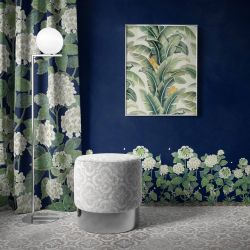 the secret garden concept wallpaper carpet artwork upholstery curtain