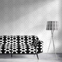 curated memory concept wallpaper upholstery lampshade