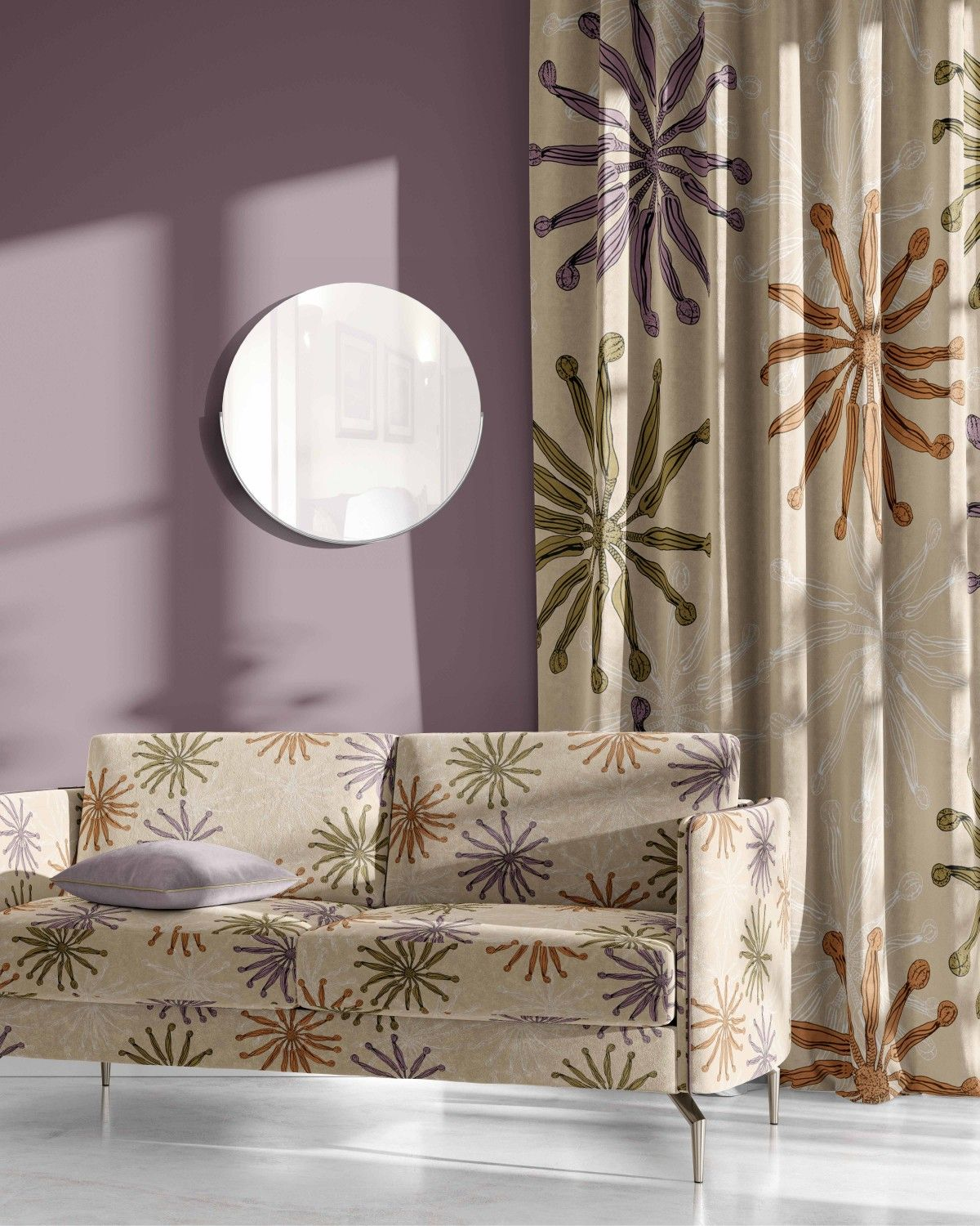 winter garden concept curtain upholstery