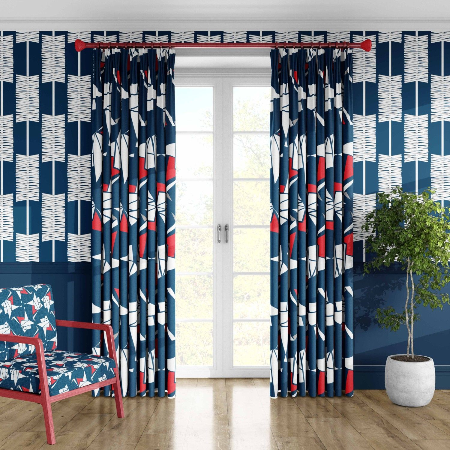EMW concept curtain wallpaper upholstery