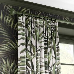 summer tropics concept curtain wallpaper