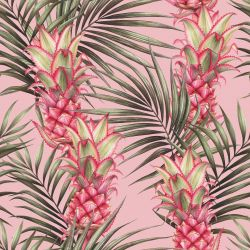 summer tropics pineapples in paradise pink  skies