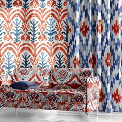 balinese style concept upholstery wallpaper curtain