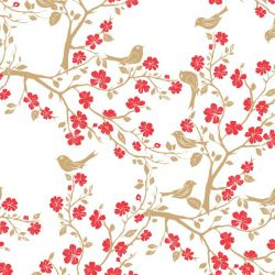 japanese inspired cherry blossom branch capsicum spice white