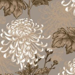 japanese inspired chrysanthemum original riversand clay detail