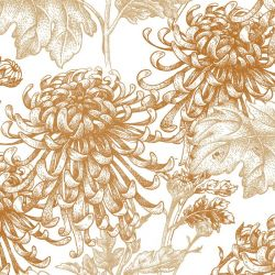 japanese inspired chrysanthemum original spice white detail