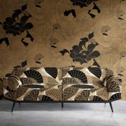 japanese inspired concept wallpaper upholstery