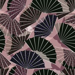 japanese inspired falling fans tar plum orchid voilet mulberry cottoncandy