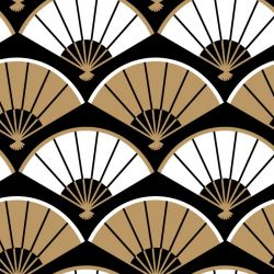 japanese inspired folding fan gold look
