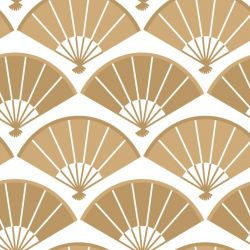 japanese inspired folding fan two tone gold look