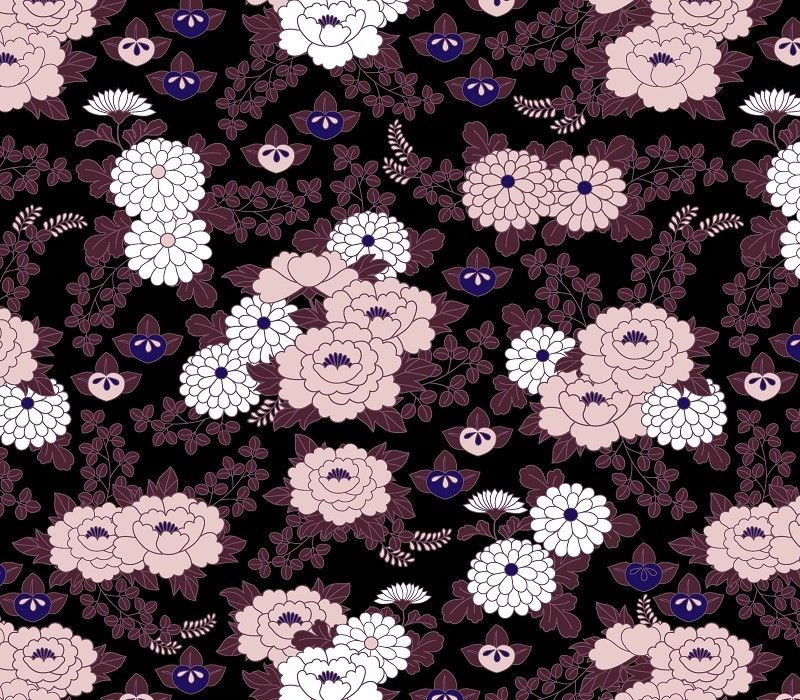 japanese inspired garden in bloom tar plum orchid violet mulberry cottoncandy white