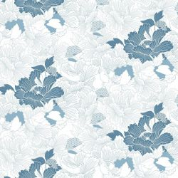 japanese inspired oriental carnation cloud powderblue white