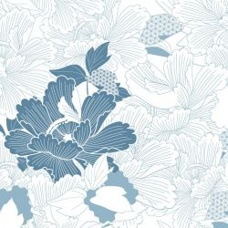 japanese inspired oriental carnation cloud powderblue white detail