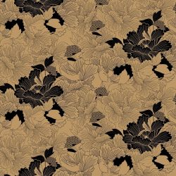 japanese inspired oriental carnation dark gold look