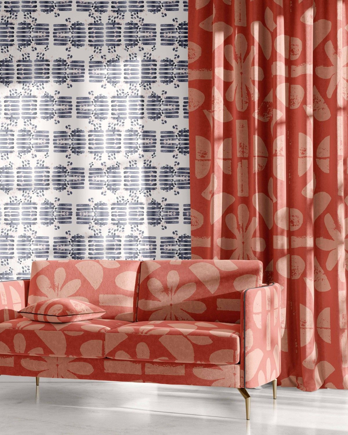 artisanal concept wallpaper curtain upholstery