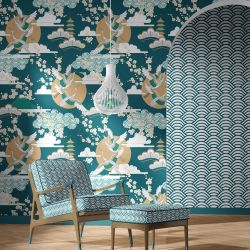 japanese inspired concept wallpaper upholstery7