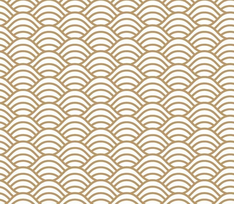 japanese inspired geometric wave lightgold look