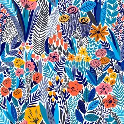 fabulous florals flower collage blue skies