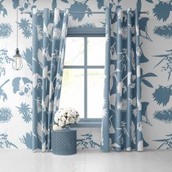 australian botanical concept curtain wallpaper