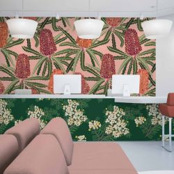 australian botanical concept wallpaper laminate