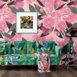australian botanical concept wallpaper upholstery artwork
