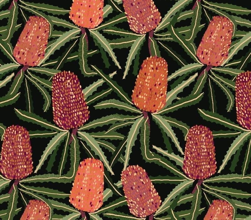 australian botanical banksia tangle original