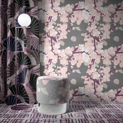 japanese inspired concept carpet ottoman curtain wallpaper
