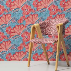japanese inspired concept upholstery wallpaper