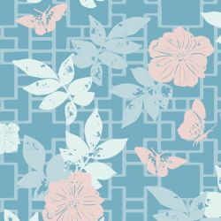 hamptons weekend butterfly screen blue