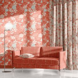 hamptons weekend concept curtain wallpaper couch upholstery