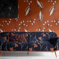 unlit garden concept wallpaper artwork couch