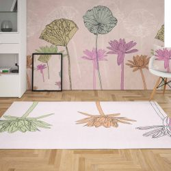 winter garden concept rug wallpaper cushion