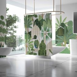 ancient empire concept bathroom shower curtain wallpaper