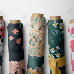 flower fields concept fabric rolls