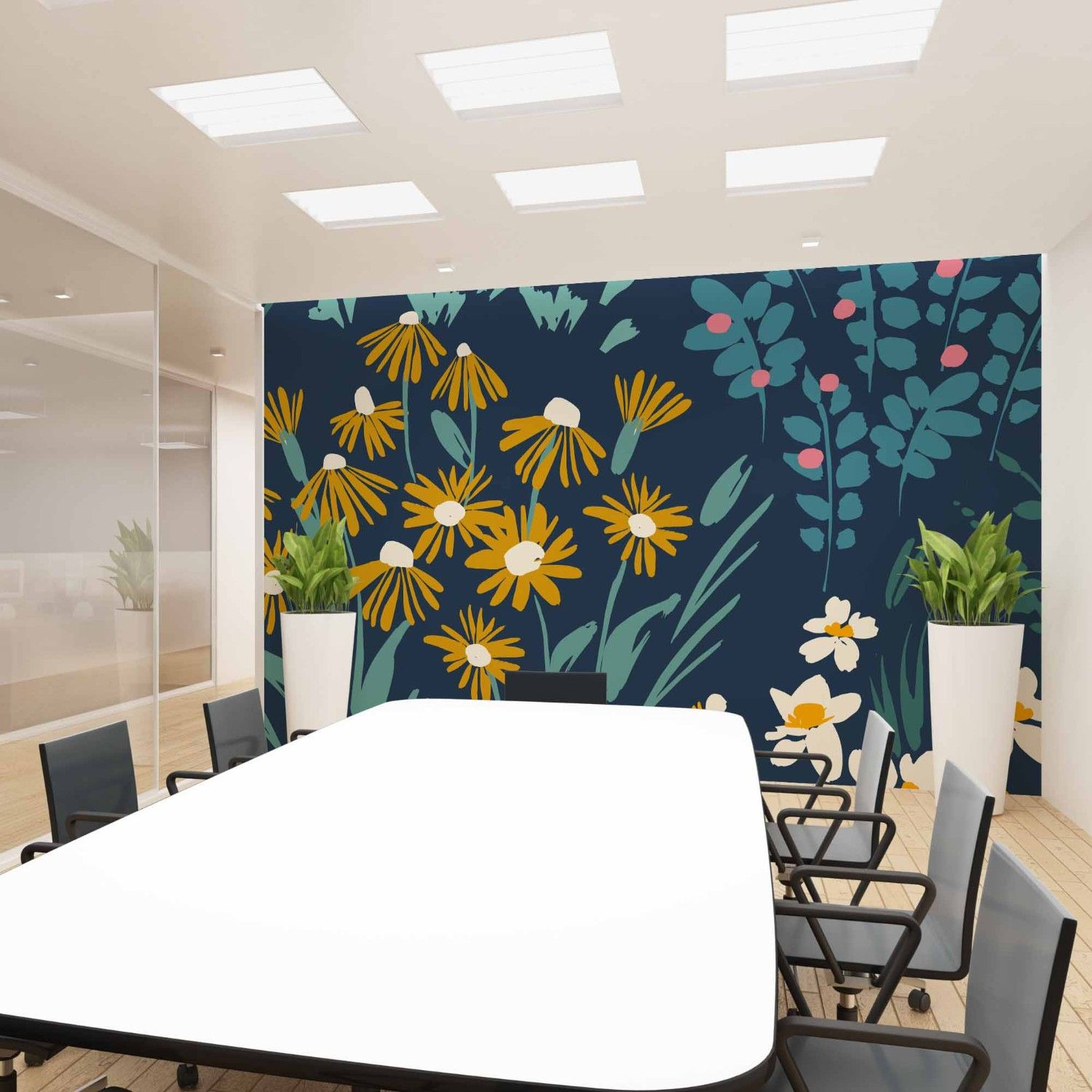 flower fields concept office wallpaper