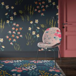 flower fields concept rug upholstery wallpaper
