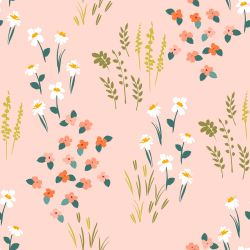 flower fields ditsy repeat peach