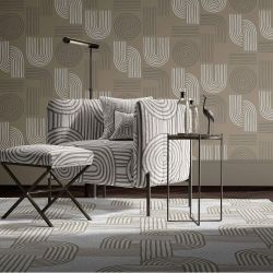 modern glamour concept wallpaper rug upholstery square