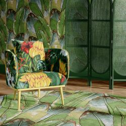tropical medley concept armchair upholstery rug wallpaper