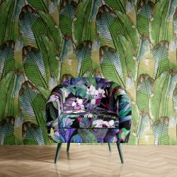 tropical medley concept armchair upholstery wallpaper