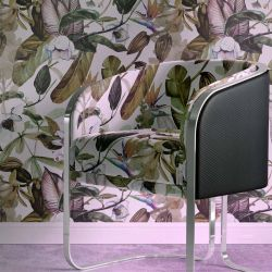 tropical medley concept wallpaper armchair upholstery