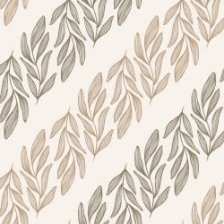botanical waves willow branch vertical eggshell clay mocca