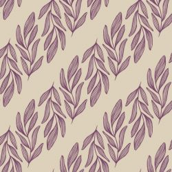 botanical waves willow branch vertical orchid creme