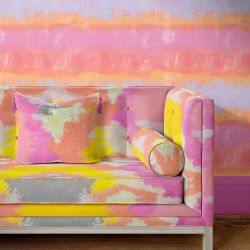 modern abstract concept couch upholstery and wallpaper