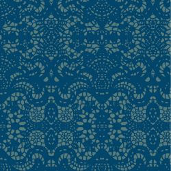 lace geo  frenchblue slate