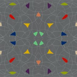 daivd myers geometric grey multi