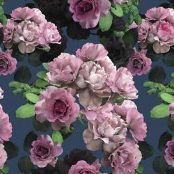 floral opulence wild roses deep sea