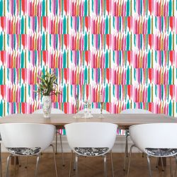 modern abstract  indian ikat rainbow