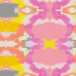 modern abstract  summer love ikat coral